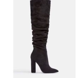 Brand new black slouchy knee boots